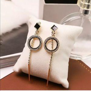 💕Tassel Crystal Earrings Drop Dangle Stud💕